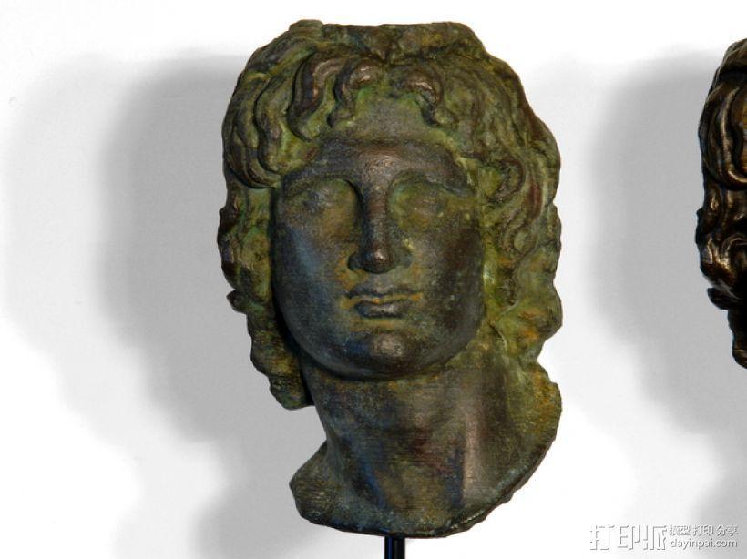 亚历山大大帝 雕像模型 3D打印模型渲染图