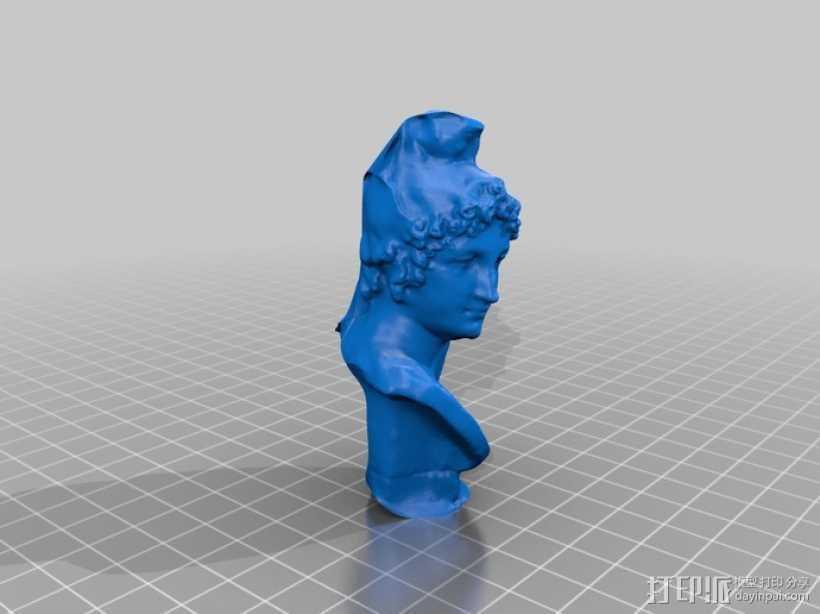 特洛伊王子 Paris半身像 模型 3D打印模型渲染图