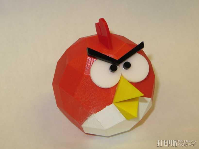 愤怒的小鸟 3D打印模型渲染图