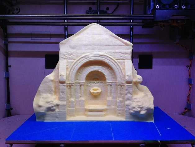 哥特式喷泉  模型 3D打印模型渲染图