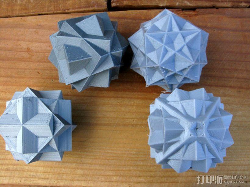 复合多面体 立方体 3D打印模型渲染图