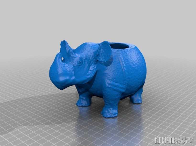 犀牛船 3D打印模型渲染图