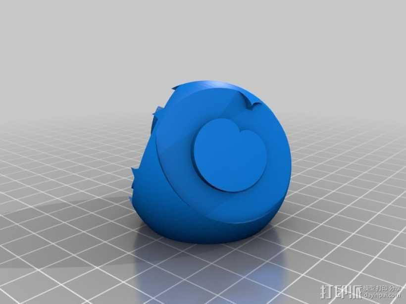 花纹图案的装饰球 3D打印模型渲染图