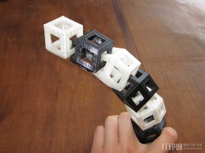 菱形十二面体手链 3D打印模型渲染图
