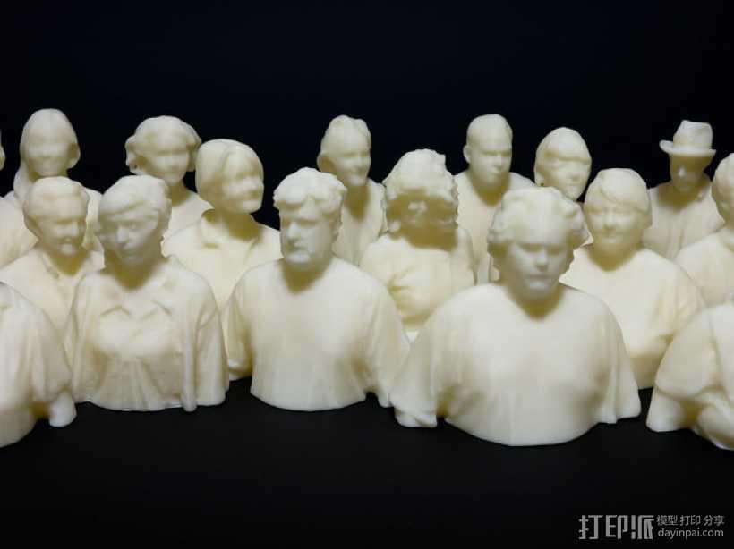 人群 雕像模型 3D打印模型渲染图