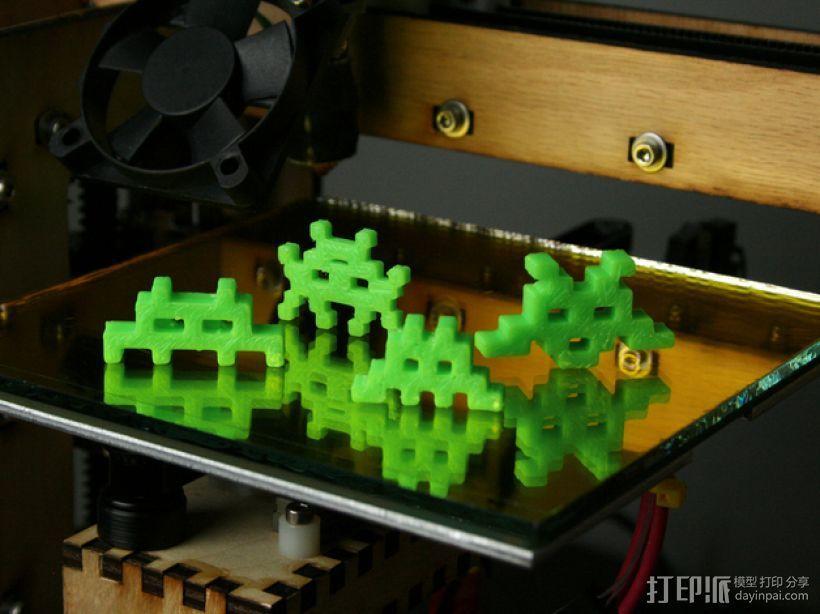 入侵者 模型 3D打印模型渲染图