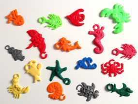 海洋生物模型 吊坠