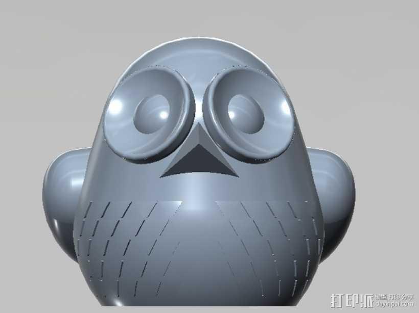 3D 猫头鹰 3D打印模型渲染图