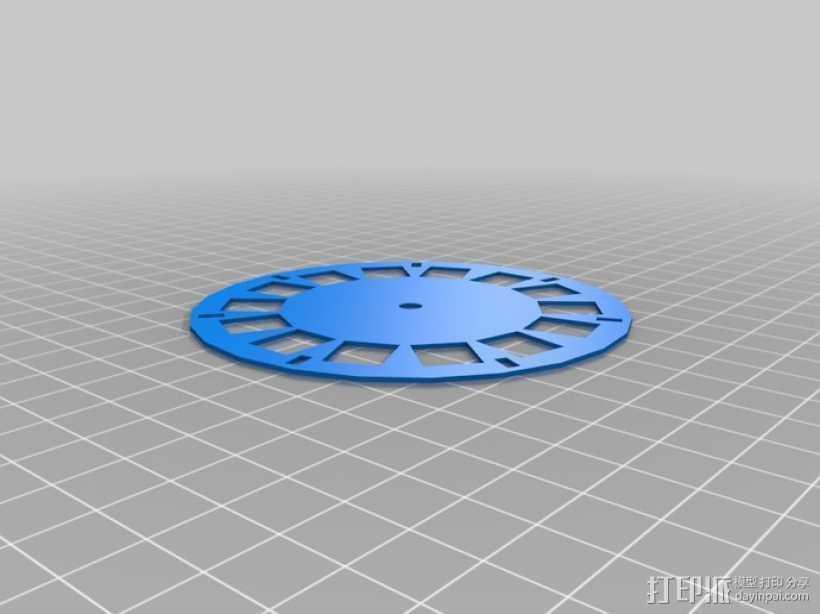立体图片轮 3D打印模型渲染图