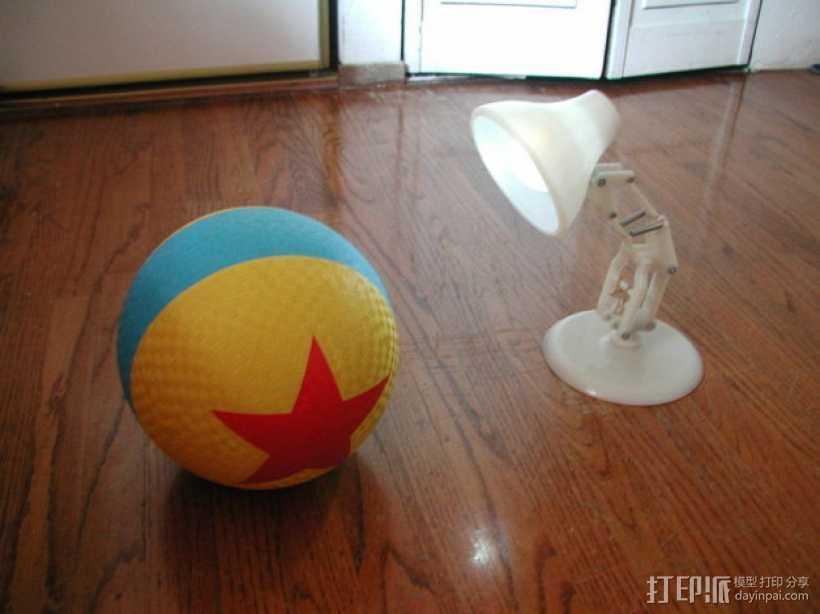 PIXAR皮克斯小台灯 3D打印模型渲染图