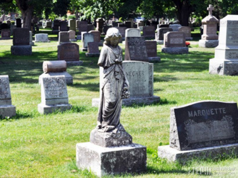 迷你公墓雕塑 3D打印模型渲染图
