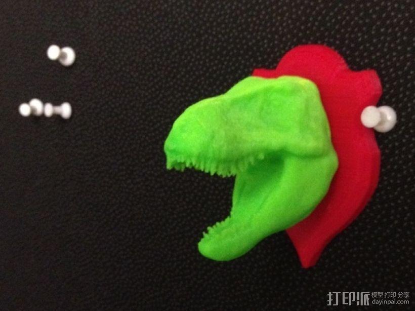 恐龙头 模型 3D打印模型渲染图