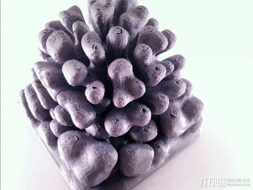 珊瑚/树枝状雕塑 3D打印模型渲染图