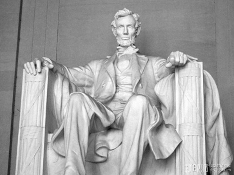 亚伯拉罕·林肯雕塑 3D打印模型渲染图