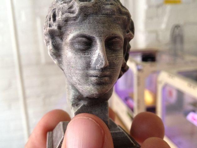 雕塑:年轻的人 3D打印模型渲染图