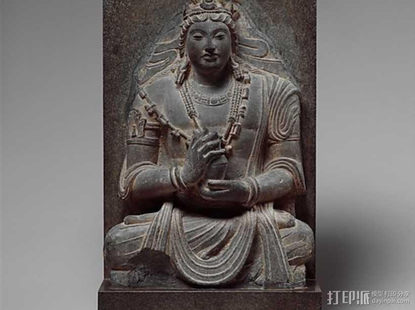 弥勒佛雕塑 3D打印模型渲染图