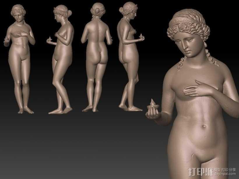 古代维纳斯塑像 3D打印模型渲染图