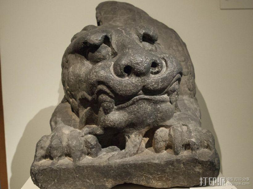 北齐朝代石狮子 3D打印模型渲染图