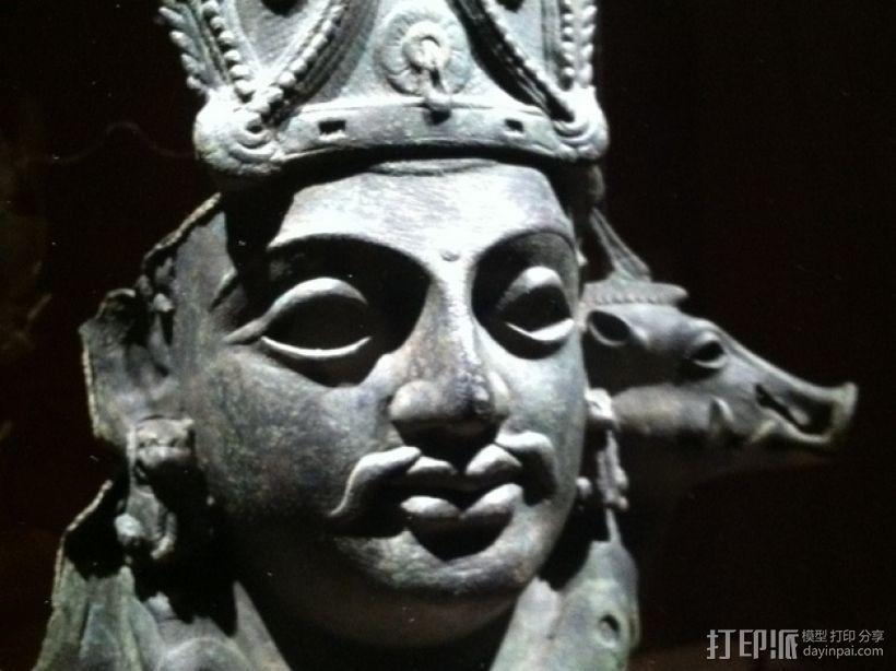 印度毗瑟奴面具 3D打印模型渲染图