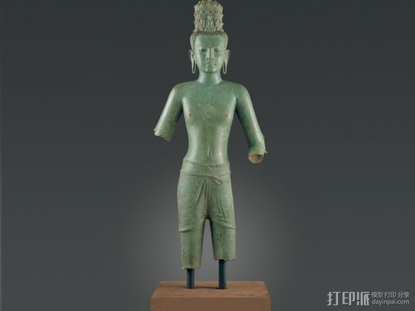 东南亚观世音菩萨 3D打印模型渲染图