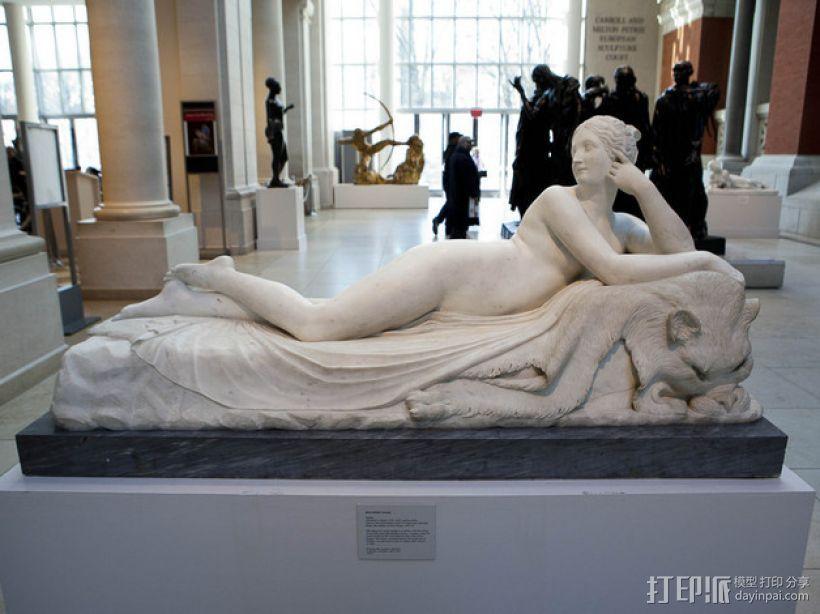 《躺着的奈亚德》雕塑 3D打印模型渲染图