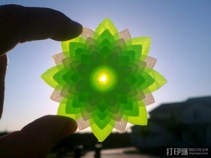 莲花 3D打印模型渲染图