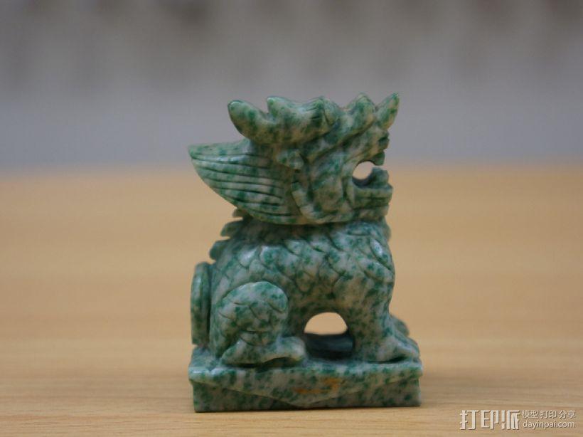 麒麟塑像 3D打印模型渲染图