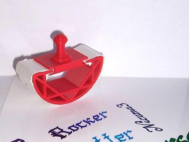 个性化吸墨器 3D打印模型渲染图