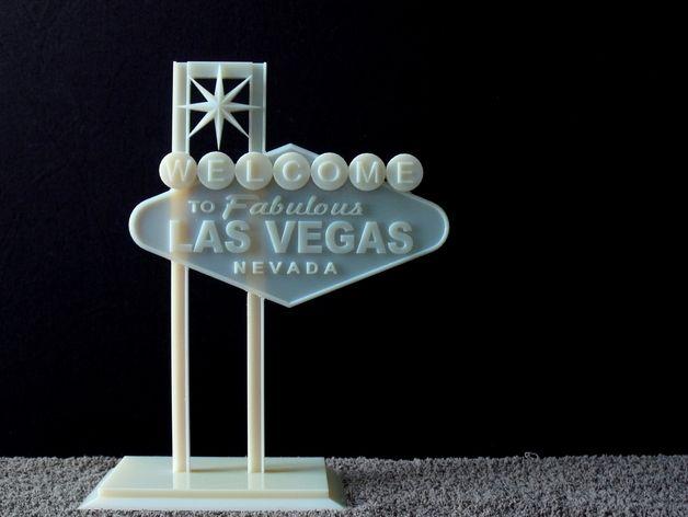 拉斯维加斯标志 3D打印模型渲染图