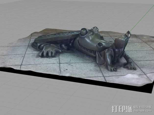 《地下生活》雕塑 3D打印模型渲染图