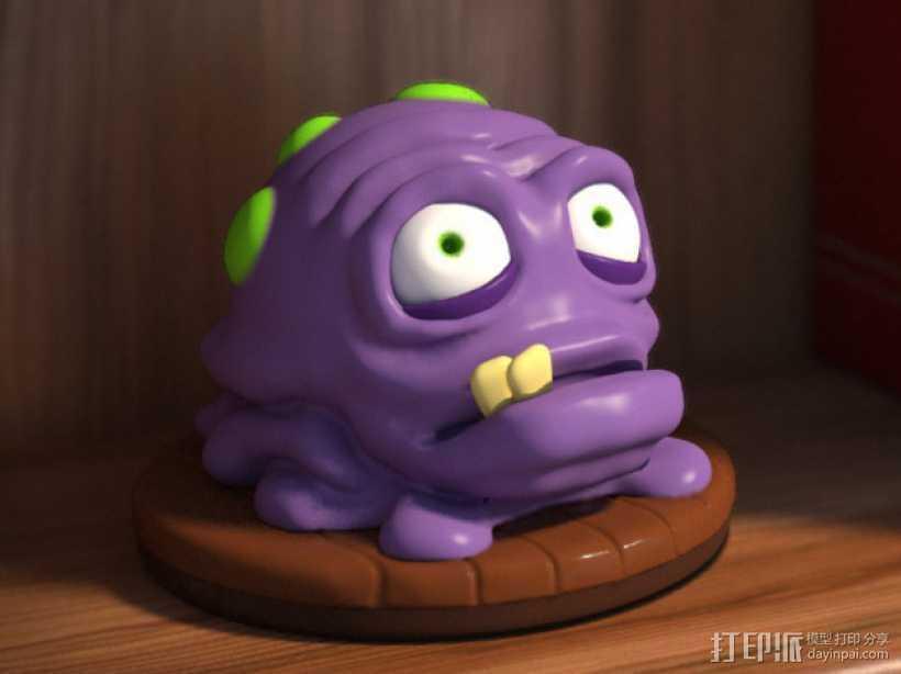 怪物宠物Nugget 3D打印模型渲染图