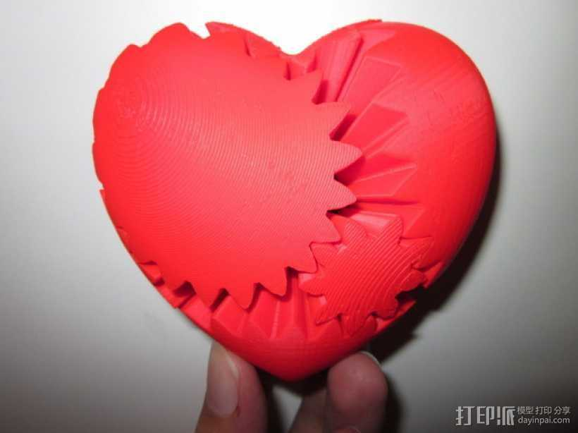 心形齿轮 3D打印模型渲染图