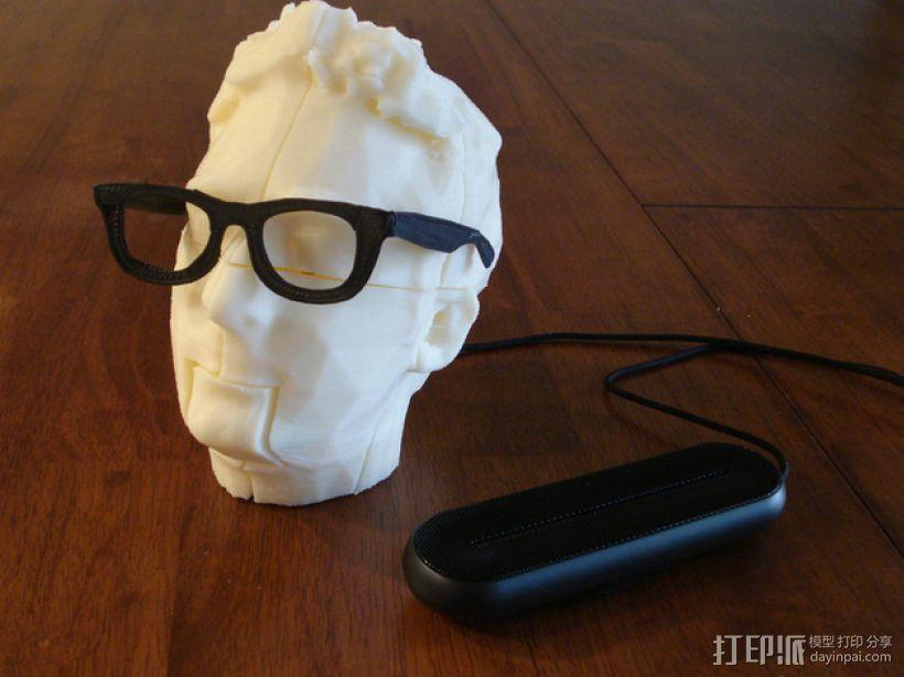Makerbot创始人Bre Pettis头像 3D打印模型渲染图