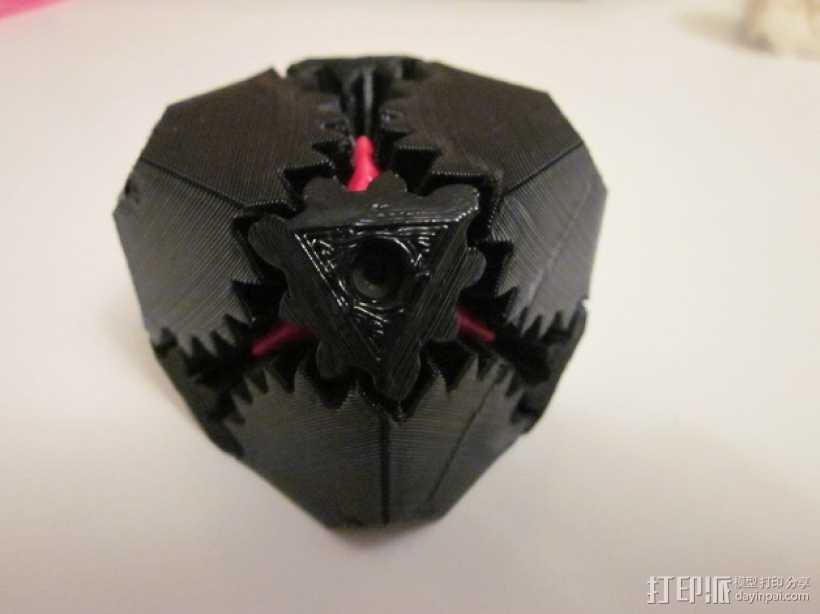 齿轮立方体 3D打印模型渲染图