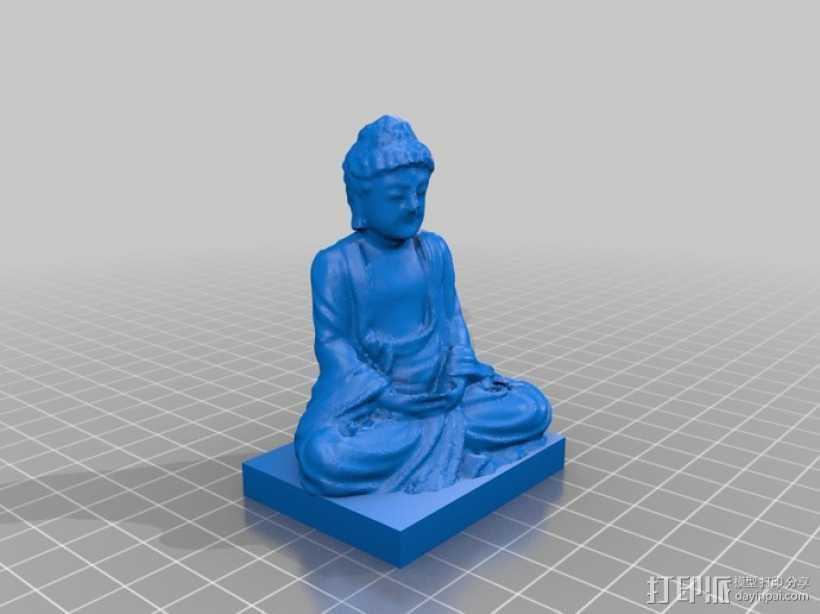 佛陀 3D打印模型渲染图