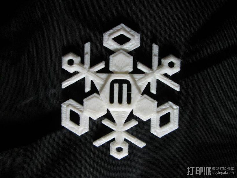 雪花 3D打印模型渲染图