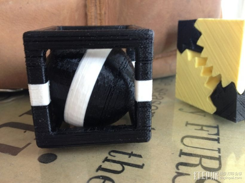 小球立方体 3D打印模型渲染图