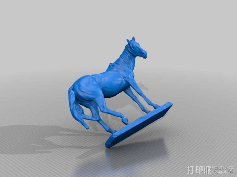 马塑像 3D打印模型渲染图