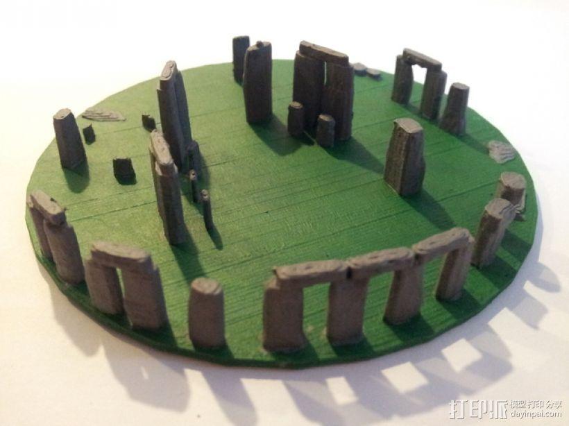 迷你巨石阵 3D打印模型渲染图