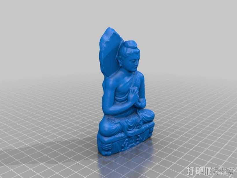 静坐大佛 3D打印模型渲染图