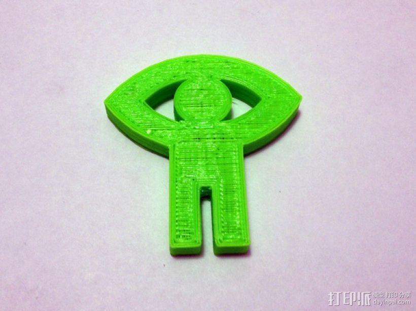 加拿大国家电影局标志 3D打印模型渲染图