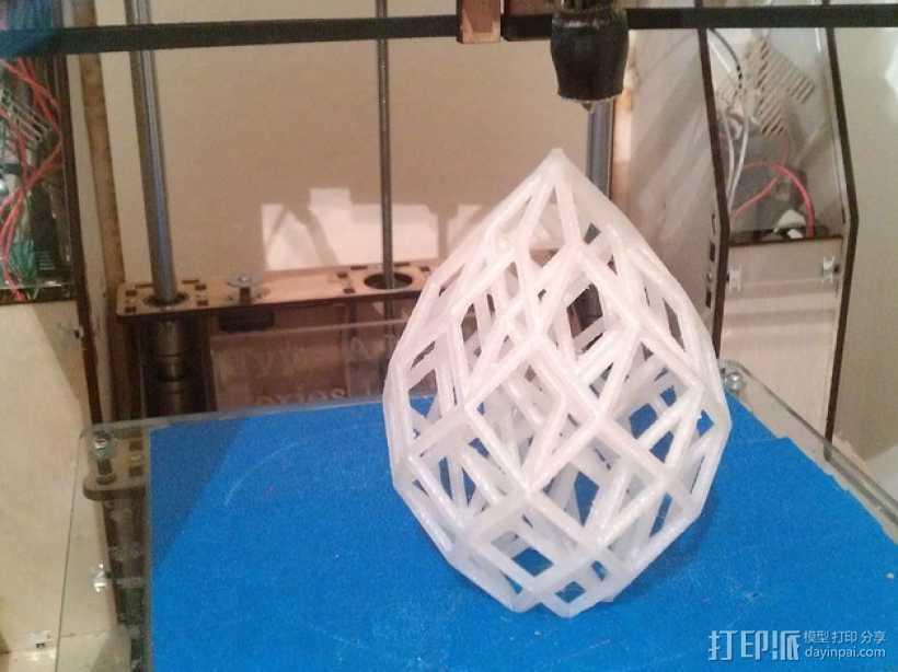 水滴形立方晶格 3D打印模型渲染图