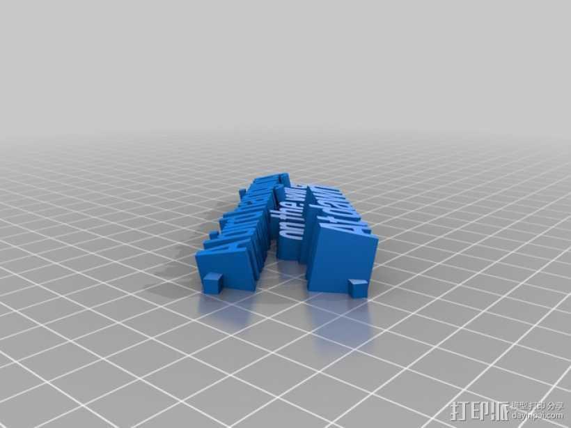 短且精——3D 俳句 3D打印模型渲染图