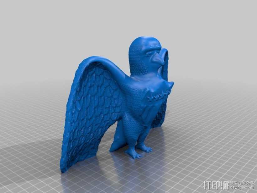 美国老鹰 3D打印模型渲染图