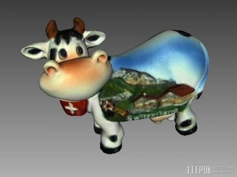 瑞士奶牛 3D打印模型渲染图