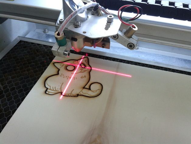 激光切割制作 小猫 3D打印模型渲染图