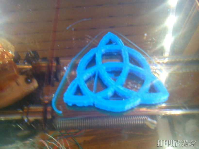 三角形图案装饰品 3D打印模型渲染图