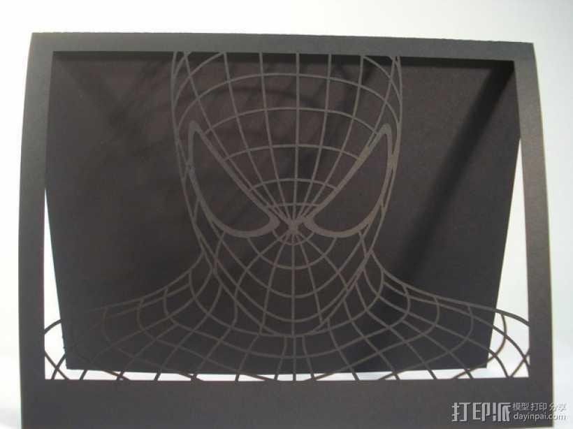 蜘蛛侠卡片 3D打印模型渲染图