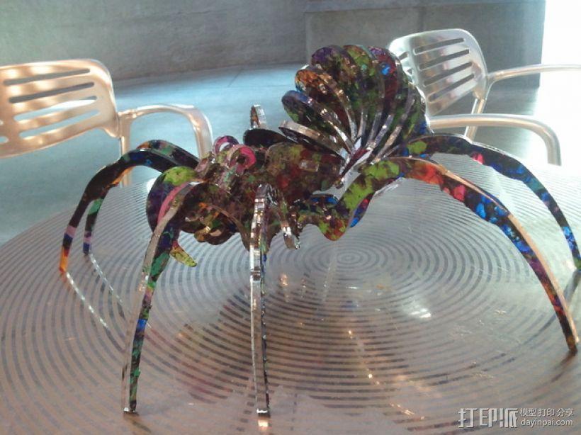 丙烯酸 蜘蛛  3D打印模型渲染图