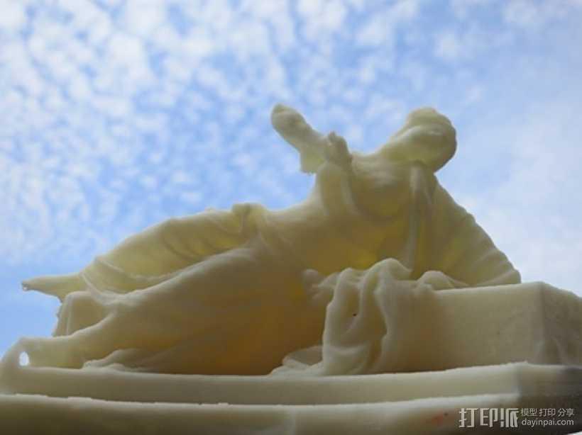 Lucretia侧卧雕像 3D打印模型渲染图